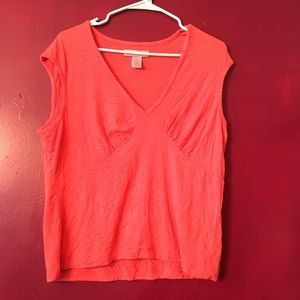 Bandolino coral sleeveless top-XL